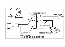 generic wiring diagram for the motor light power cord and generic wiring diagram for the motor light power cord and controller sewing machinessnap