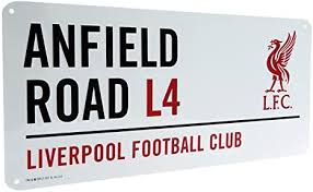 <b>Liverpool</b> Official Anfield Road L4 Metal <b>Street</b> Sign - Multi-Colour ...