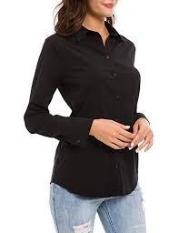 LUSMAY <b>Women's</b> Button Down <b>Dress Shirts</b> Office Long Sleeve ...