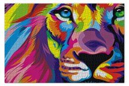 """оформить заказ на пазлы с стильными принтами """"<b>lion</b>"""""""