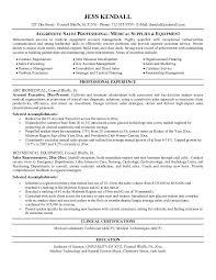 medical equipment salesperson resumefree resume templates
