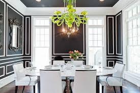 brilliant black dining room