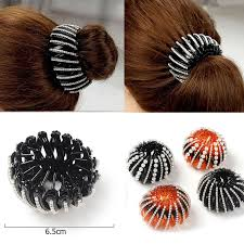 <b>M MISM 1PC</b> Bezel Rhinestones Pearl Nest Bun Bud Large Hair ...