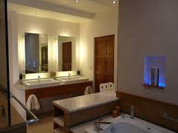 bathroom place vanity contemporary: furniture modern bathroom vanity lighting fixtures with double clearance bathroom vanities and double rectangular undermount