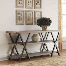 tables madison table x: view full size base criss cross black and brown console table