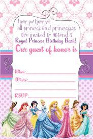 printable birthday party invitations bronvite invitations all princess disney printable birthday party invitations