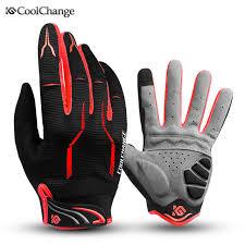 Coolchange <b>Bike Glove</b> Full Finger Black Luva Bike <b>Cycling Gloves</b> ...
