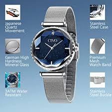Civo women's <b>watches</b>, <b>waterproof</b>, <b>starry sky</b>, stainless steel mesh ...