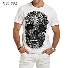 <b>E BAIHUI</b> mens <b>t shirts</b> fashion Skull 3d <b>t shirt</b> men Hip Hop Men T ...