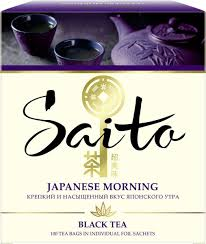 <b>Чай</b> в пакетиках <b>Saito</b> Japanese Morning, <b>черный</b>, 100 шт ...