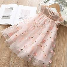 Cute Girls <b>Dress 2019 New Summer</b> Girls <b>Clothes</b> Flower Princess ...