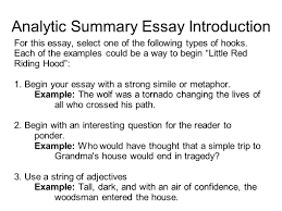 writing portfolio mr butner writing portfolio due date analytic summary essay introduction for this essay select one of the following types of hooks