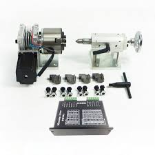 Brand new 80mm 4 Jaw <b>CNC Rotary</b> Rotation Axis <b>Tailstock</b> For ...