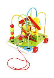"Деревянная <b>игрушка</b> ""<b>Машинка</b>-каталка"" K6370: цвет ..."