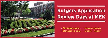 rutgers application review at mek review mek review