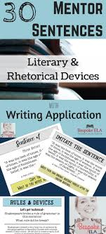 17 best images about essay mini lessons for middle school and high this product is a power point that contains 30 mentor sentences from famous classic writers to