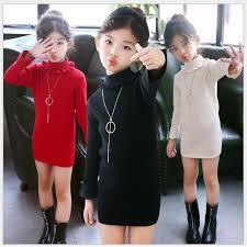 <b>spring autumn</b> kids <b>black</b> red knitted sweater <b>girl</b> turtle neck pink ...
