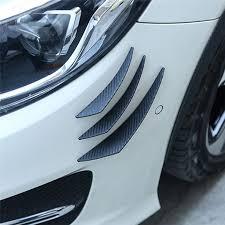 6Pcs Carbon Fiber Style <b>Car Front</b> Bumper Lip Splitter Body Spoiler ...