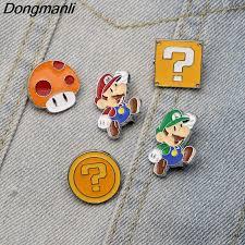 <b>DMLSKY</b> Super Mario Enamel Pin Badge Cartoon Cute Mushroom ...