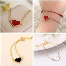 SL01 Charming <b>Red</b> Heart Bracelets & Bangles For Women Girls ...
