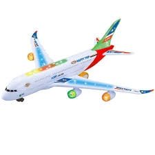 Kids <b>Electric Airplane</b> Toy Simulation Aircraft Jet Toy with <b>Flashing</b> ...
