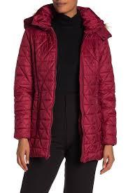 Andrew Marc   <b>Faux Fur Trim Hood</b> Quilted Jacket   Nordstrom Rack