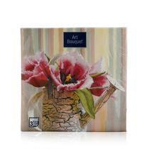 "<b>Бумажные салфетки Bouquet</b> "" Натюрморт с тюльпанами "" 3х ..."