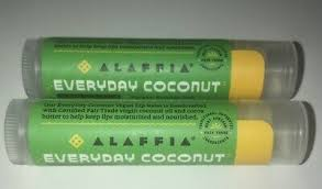 2 Alaffia, <b>Everyday Coconut</b>, <b>Vegan Lip</b> Balm, Coconut Mint, 0.15 oz ...
