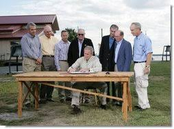 President Bush Signs Executive Order to Protect <b>Striped</b> Bass and ...