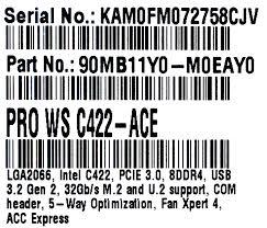 <b>Материнская плата ASUS PRO</b> WS C422-ACE — купить, цена и ...