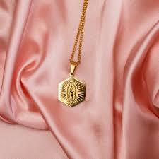 Virgencita Necklace (<b>Gold</b>) – <b>Hija</b> de tu Madre