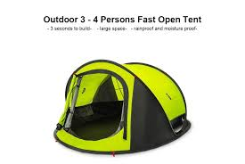 <b>Original Xiaomi</b> Mijia zaofeng 3 4 People Automatic Camping Tent ...