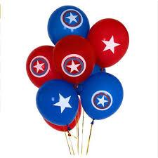 <b>12pcs</b> Avengers Alliance <b>Latex</b> Balloon Captain America Shield ...