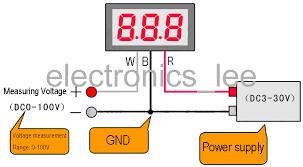 vd led digital dc v voltage meter blue display v20d 1