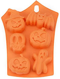 6 Cavity <b>Halloween Silicone Cake Mold</b> Decor Ice Cubes Tray Soap ...
