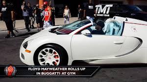 Of Bugattis Floyd Mayweather Rolls In A Fleet Of Bugatti39s To The Gym Youtube