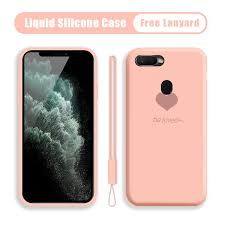 For OPPO A7 A5S Soft Original Liquid Silicone Case Shockproof ...