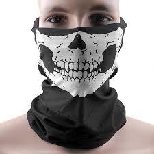 <b>Halloween</b> Skull <b>Face Mask</b> Half for Dust Wind UV Sun Protection ...