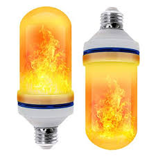 CPPSLEE - <b>LED Flame Effect Light</b> Bulb - 4 Modes with Upside ...