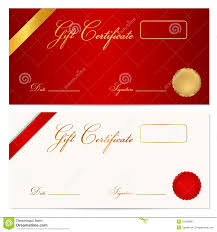 gift certificate voucher template wax seal royalty stock gift certificate voucher template wax seal