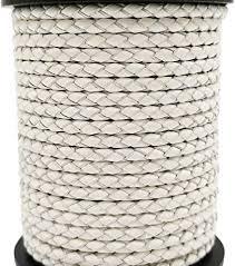 Amazon.com: 5 Yards 3mm Braided Leather Strap Round Folded ...