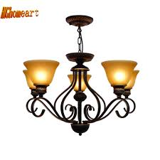 Nordic <b>Vintage</b> Country Style <b>Wrought Iron Chandelier</b> E27 Bulb ...
