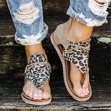 <b>Women's Sandals New Leopard</b> Print Summer Shoes Women's ...
