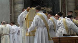 north american college joan s rome cardinal dolan leads the group of priests and fellow deacons who greet the new deacons