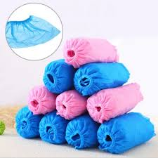 New <b>100 Pcs Disposable</b> Shoe Covers Indoor Cleaning Floor Non ...