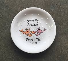You are my lobster Ring dish, <b>Engagement gift</b>, <b>Wedding</b> gift , ring