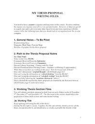 writing thesis proposal com