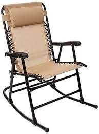 AmazonBasics Outdoor Patio Folding <b>Chair with</b> Manual <b>Rocking</b> ...