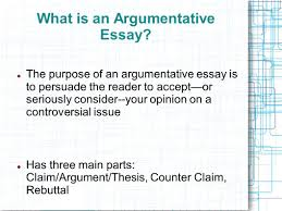 the argumentative essay introducing argument the counterclaim what is an argumentative essay