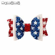 """<b>ncmama Hair Accessories 7</b>"""" Large Hair Bows for Girls 4th of July ..."""